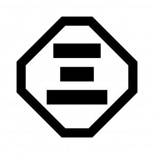 隅切角に三の字
