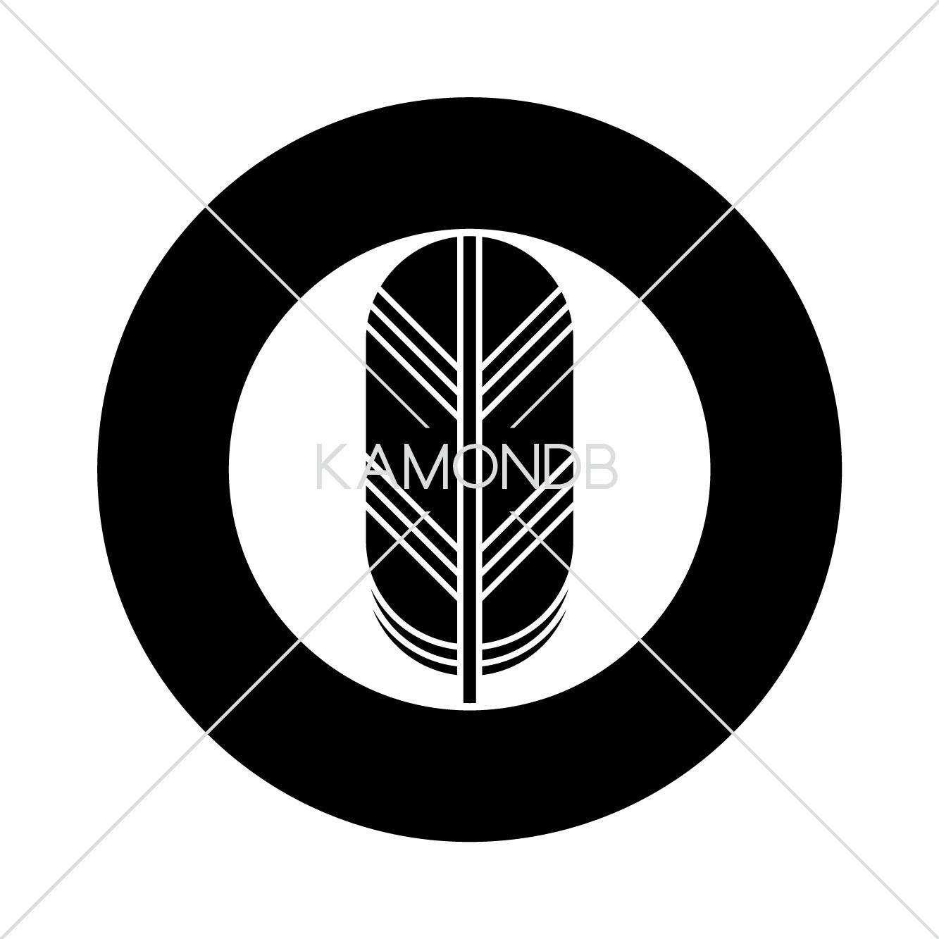 太丸に一つ鷹の羽 – 家紋DB