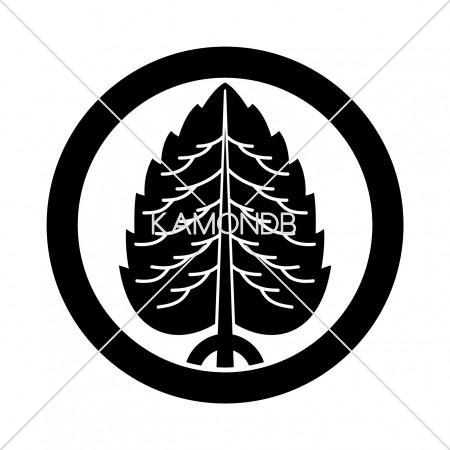 丸に一本杉