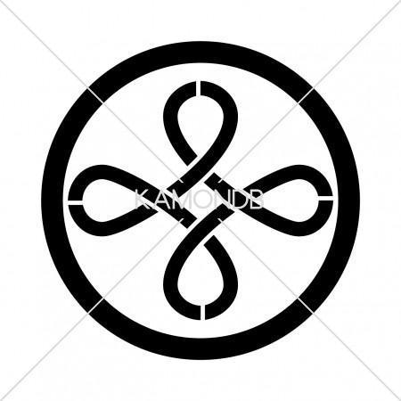中輪に結び井桁