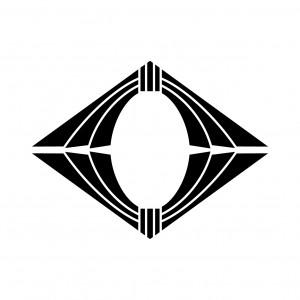 上下対い熨斗菱