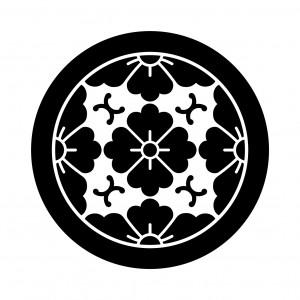 丸に浮線綾花角
