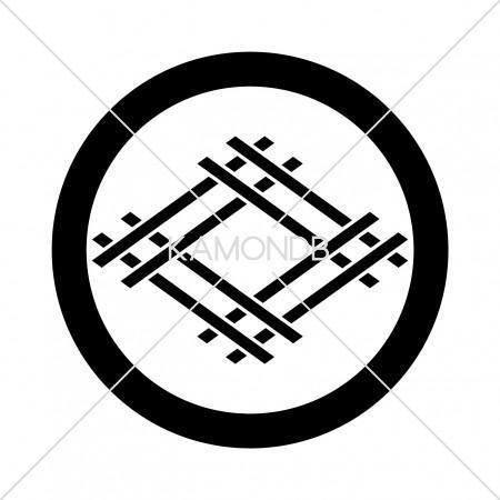 丸に変わり組井桁