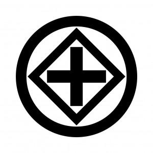 丸に隅立て角に十字久留子