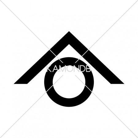 山形に一つ輪