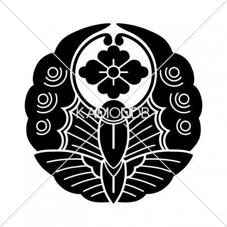 浮線蝶に花菱