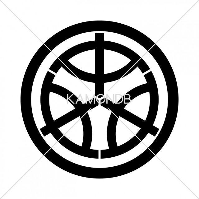 中輪に三つ中の字