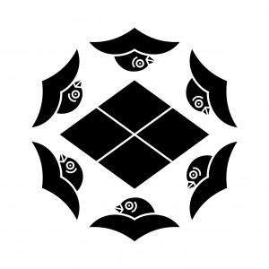 六つ雁金に武田菱