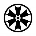 細輪に六つ矢筈