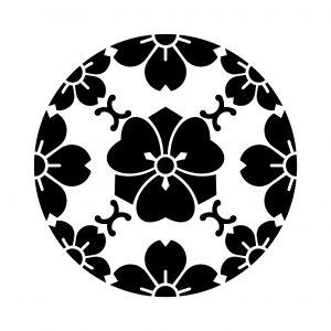 浮線綾山桜に剣片喰