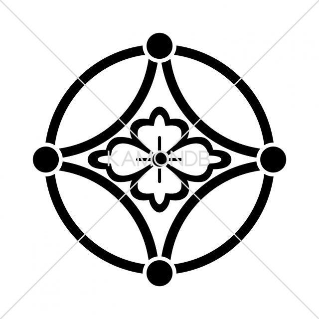 中陰星付七宝に花菱
