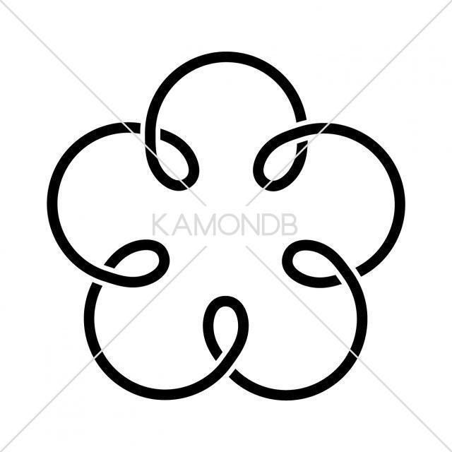 五つ結び釜敷