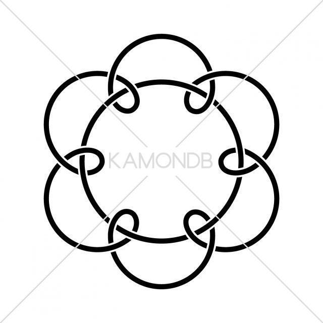 七つ結び釜敷