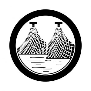 丸に二つ干網(2)
