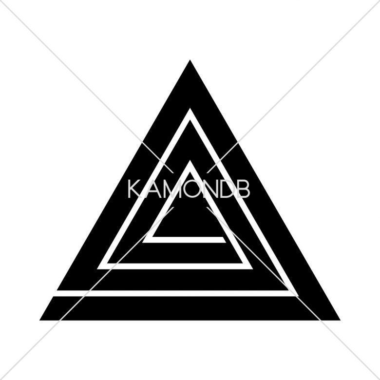鱗入り三角稲妻