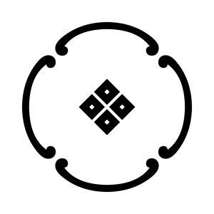 四つ鐶に蛇の目四つ目
