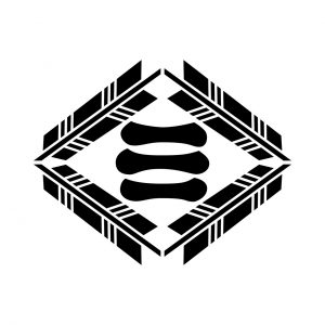四つ矢菱に三文字