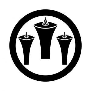 丸に三つ盛蝋燭