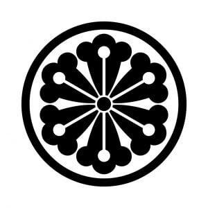 細輪に六つ蔦の花