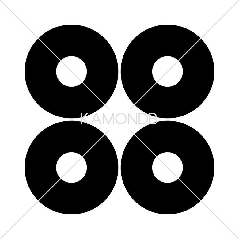 四つ並び蛇の目