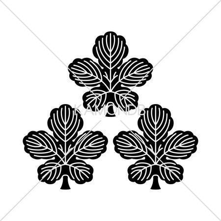 三つ盛り梶の葉