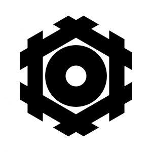六角井筒に蛇の目(1)