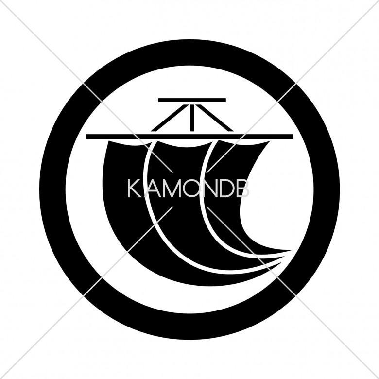 丸に一つ帆