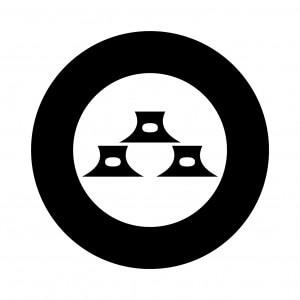 太輪に三つ三味駒