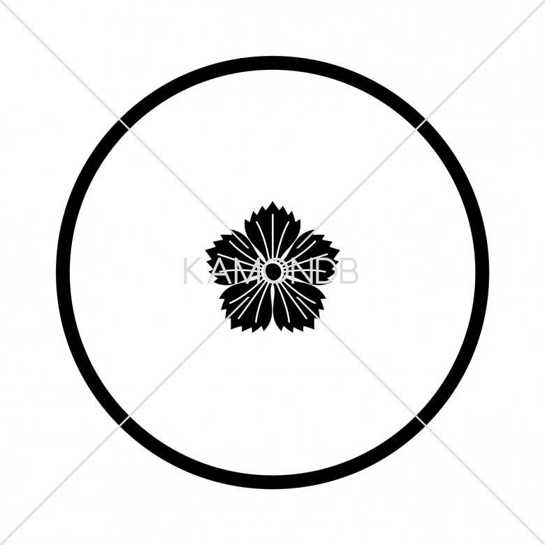 糸輪に豆撫子