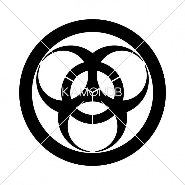 丸に三つ大の字