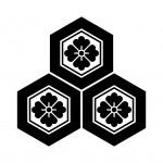 三つ盛亀甲花角