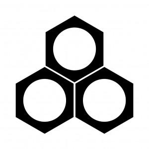 三つ盛鉄砲亀甲