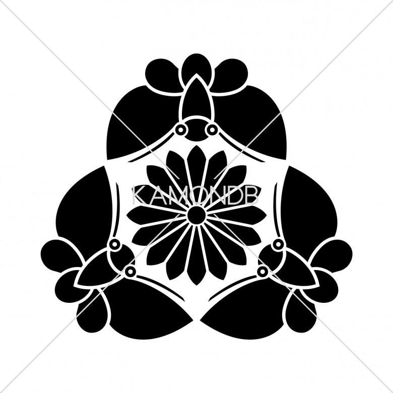三つ胡蝶に鬼菊