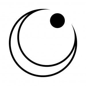 右向き陰日向月に星