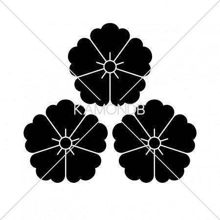 三つ盛唐花