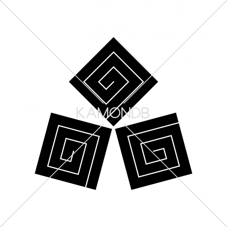 角合わせ三つ稲妻
