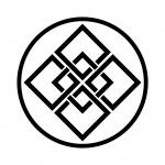 糸輪に五つ組角