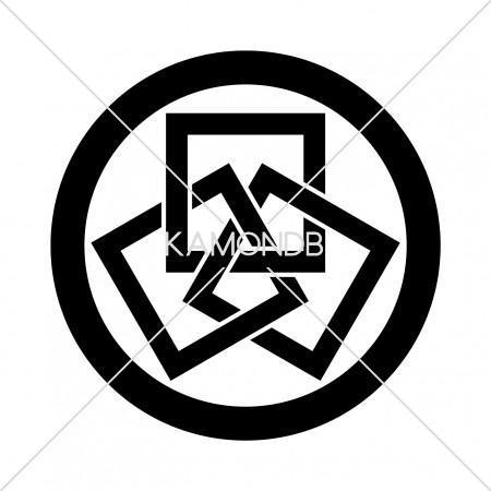丸に三つ組角
