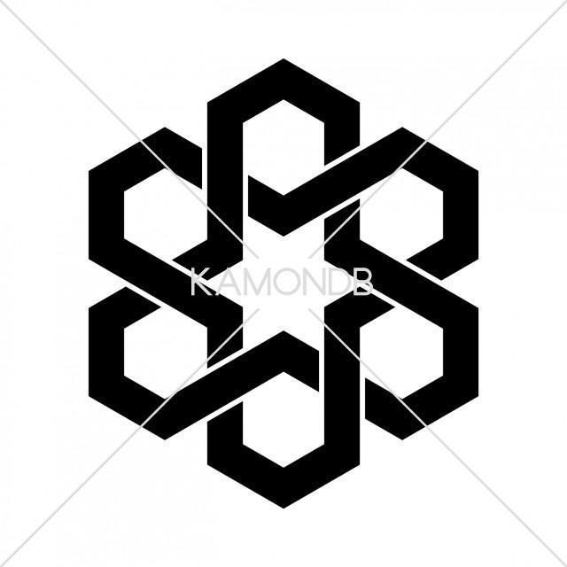 六つ組合亀甲