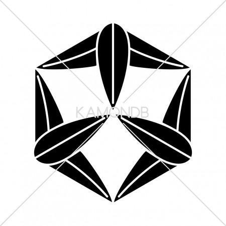六角九枚笹
