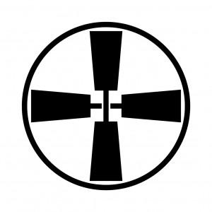 糸輪に十字杵