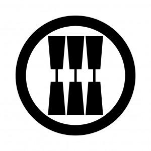 丸に三つ並び杵
