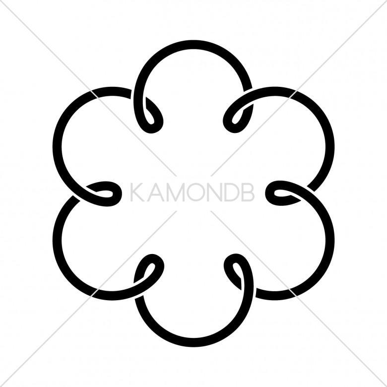 六つ結び釜敷