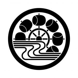 中輪に水に水車
