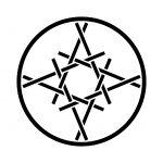糸輪に糸組合わせ井桁