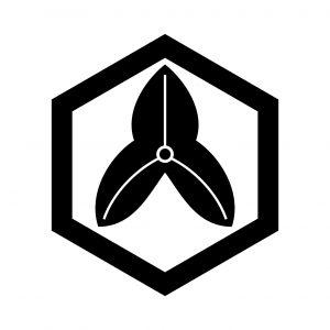 六角に葉沢瀉(2)