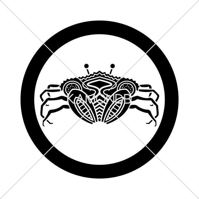 丸に平家蟹