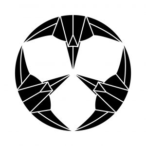 三つ折鶴の丸
