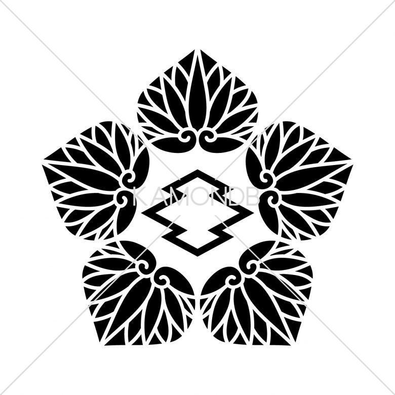 五つ葵に中陰松皮菱