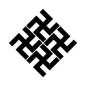 四つ角立て五つ割万字